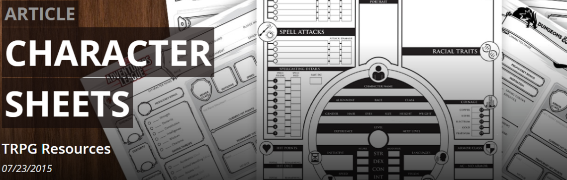 Official D&D Character Sheets? Yes, please!