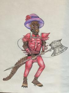 Gox the Kobold Barbarian, by Jen